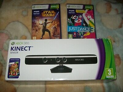 XBox 360 Kinect with 3 Games - New Boxed