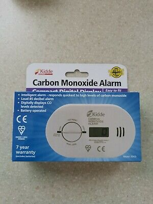 10 Year LED Carbon Monoxide Detector Alarm with Batteries - Kidde 5CO