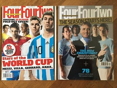 Four Four Two Football Magazines x 2 July and September 2010