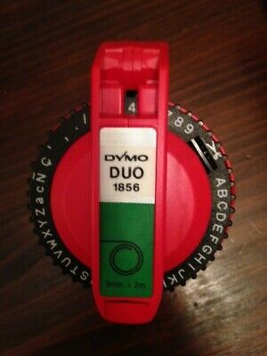 Vintage Dymo Duo Cloth Marking Label Maker Red