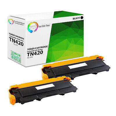 TCT 2PK TN420 Black Compatible Toner Brother HL 2240 2270dw MFC 7360n DCP 7065dn