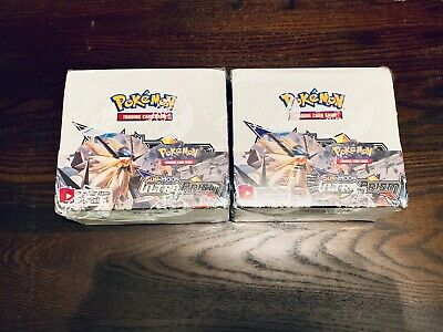 TWO Pokemon TCG Sun and Moon ULTRA PRISM Booster Boxes BOX x2 SEALED AND NEW