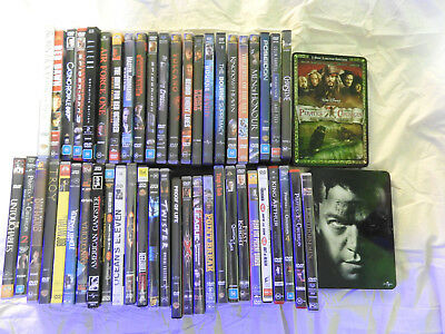 DVD Builk Lot 51 Action Movies Rambo, Bourne, Pirates, Troy etc...