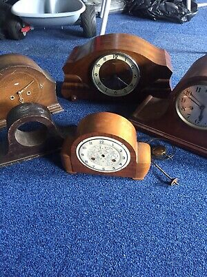 Mantle Clocks Spares/repairs Including Large Saunders Sydney/smiths Joblot