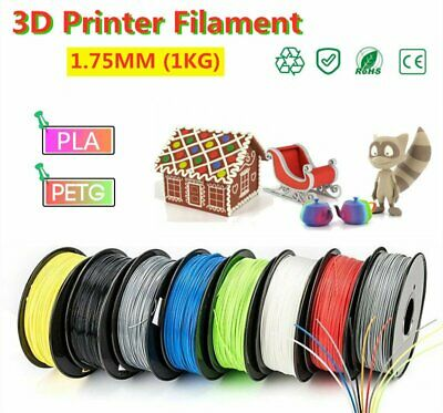 3D Printer Printing Filament PLA 1.75mm Roll 1KG Weight  Various Colours UK