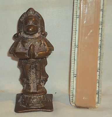 Antique Traditional Indian Ritual Copper Statue Hanuman Rare Old Collectible #6
