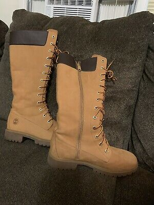new Timberland Womens 6860 black Leather knee Boot Size 8   eBay