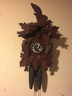 Vintage German Black Forest 8 day Regula Cuckoo Clock, Birds Needs Bellow