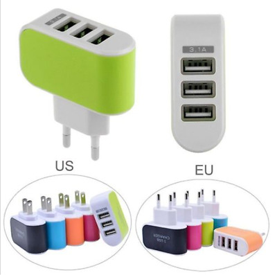 EU/US Universal Travel 5V 3.1A Port USB AC Wall Home Charger Power Adapter