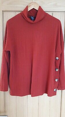 New Look Maternity Roll Neck Jumper Excellent Condition Size 10 Rusty Red Colour