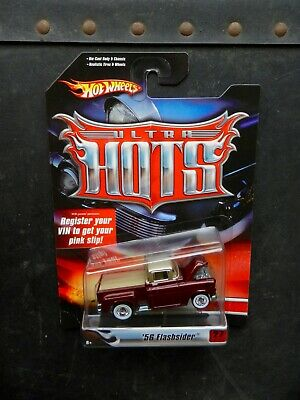 """Hot Wheels Metallic Red 1956 Chevy """"Flashsider"""" Ultra Hots Series W/Real Riders"""