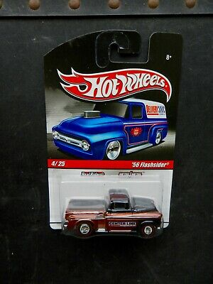 """Hot Wheels Black/Brown 1956 Chevy """"Flashsider"""" Delivery Series W/Real Riders"""