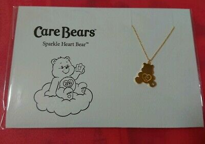 made in🇯🇵  Sparkle Heart Bear necklace 2019 care bears exhibition Ginza,Tokyo