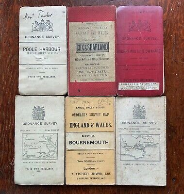 Ordnance Survey 1 inch Maps - Poole Bournemouth Christchurch Swanage - Job Lot!!