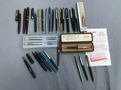 Collection of Vintage Fountain & Ball point pens