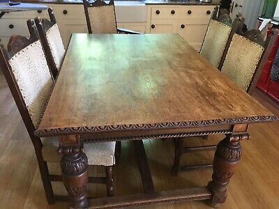 Victorian country house oak dining table Hand Crafted By Flashmans