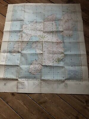 Vintage Ordnance Survey Cloth Map Of Islay War Revision 1940