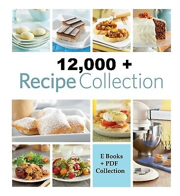 12,000+ Recipes + ebooks Collections / PDF with Full Master Resell Rights
