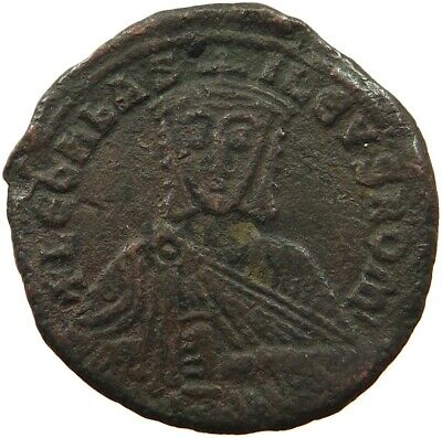 BYZANTINE EMPIRE LEO VI. 886-912 FOLLIS RATTO 1873  #sg 277