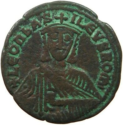 BYZANTINE EMPIRE LEO VI. 886-912 FOLLIS RATTO 1873  #sg 279