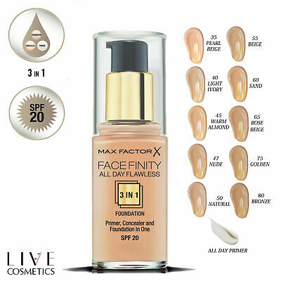 @@ Max Factor @@ Facefinity 3 In1 All Day Foundation 30Ml - Choose Your Shades