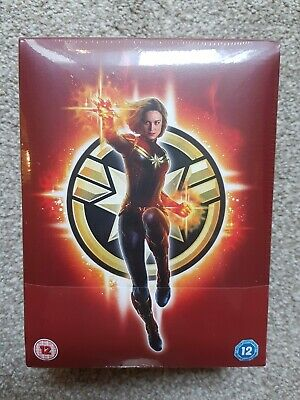Captain Marvel 4K Blu Ray Collectors Edition  Steelbook + Extras New And Sealed