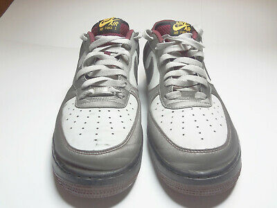 Details about Nike Air Force 1 Silver Black Mens Raiders Shoes Classic AF1 sz 8 488298 054