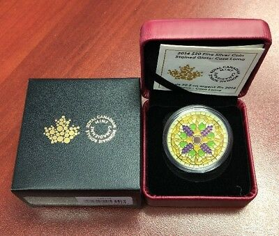 2014 Fine Silver Coin Stained Glass Casa Loma Royal Canadian Mint Canada