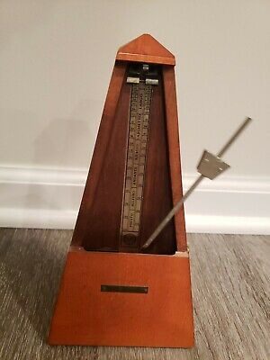 Vintage Seth Thomas Metronome de Maelzel - Maple Wood