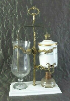 Antique Mid 19th Century French Porcelain Balancing Syphon Coffee Maker