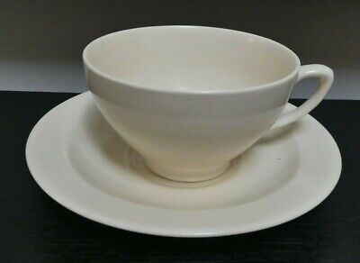 Vintage Susie Cooper Crown Works Burslem Cup & Saucer Matt Cream