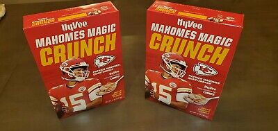 **(2) Boxes Patrick Mahomes Magic Crunch Cereal. One To Eat, One To Keep!**