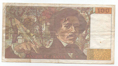 FRANCE 100 Fr 1990 Cir F condition / Great collector item!!