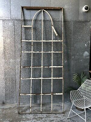Architectural Antique Wrought Iron French Window Frame