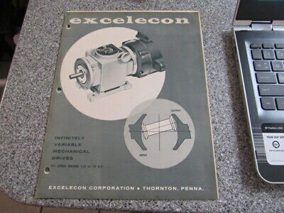 VINTAGE Equipment Brochure EXCELECON INFINITELY VARIABLE MECHANICAL DRIVES