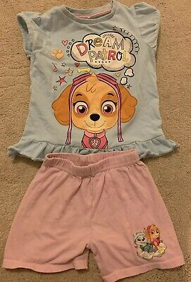 Girls Age 2-3 Years - Paw Patrol Shorts Pyjamas