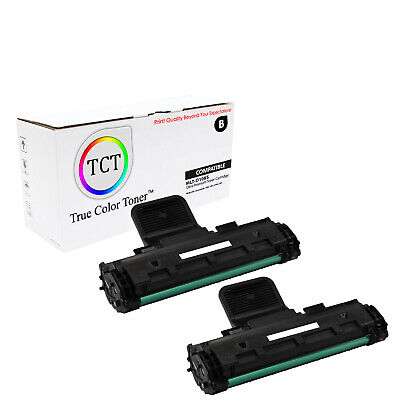 TCT 2PK Black MLT-D108S Toner Cartridges Samsung ML-1640 ML-2240 printer series