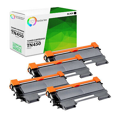 TCT 4pk TN450 High Yield Black Compatible Toner Brother HL 2240 MFC 7360n 7860dw