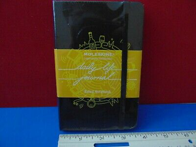 """Moleskine Daily Life Ruled Notebook Journal 192 Lined Page 3.5 x 5.5"""" New Sealed"""