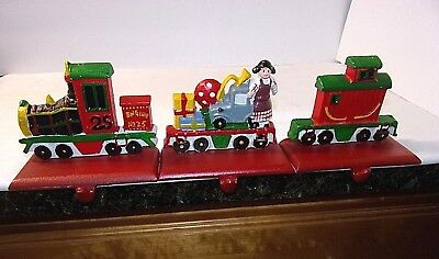Christmas Train Cast.2 Pottery Barn Cast Iron Train Christmas Stocking Holder