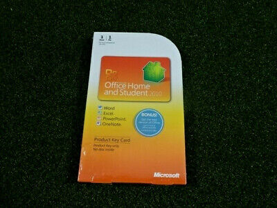 Microsoft Office Home and Student 2010 Sealed New