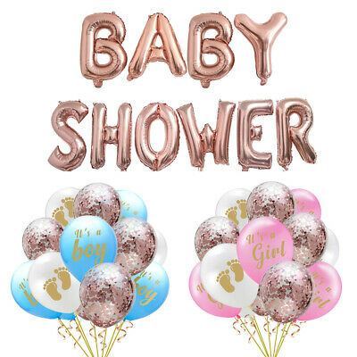 Happy Birthday Baby Shower Girl Boy Balloons Bunting Pompoms Party Decorations