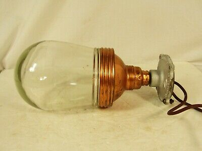 Vintage Benjamin Explosion Proof Copper Industrial Light With Crouse-Hinds Brack