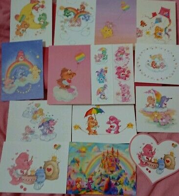 complete 15 postcards set B envelope 2019 care bears exhibition Ginza,Tokyo