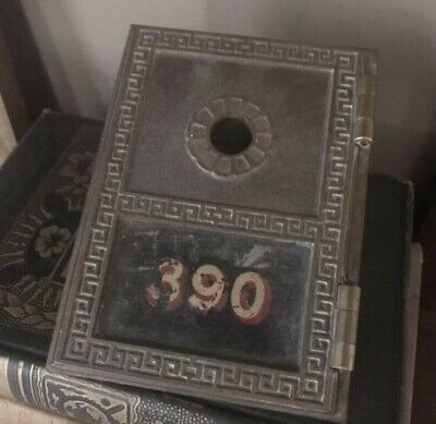 Salvaged VINTAGE Brass US POST OFFICE BOX DOOR, MADE BY Yale Number 390