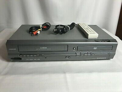 MAGNAVOX DVD VCR Combo Player MWD2205 with Remote and Cables -Tested