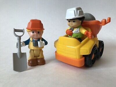 Fisher Price Little People Bendable Construction Worker Dump Truck Rock Shovel