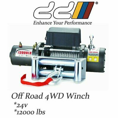 DD 12000LBS 24V Recovery Electric Winch Trailer Truck 4WD 5443kgs Steel Cable.