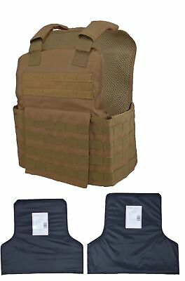 Tactical Scorpion Body Armor Muircat Carrier + Level IIIA Soft Inserts  Coyote