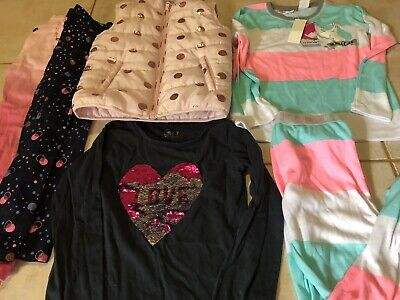 Girls Bulk Clothes Jeans Tops Vest NWT Pjs Size 7
